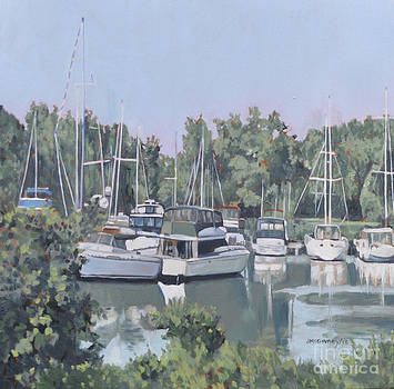 Yacht Club the Bluffs by Joan McGivney