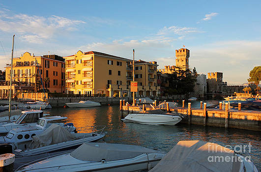 Yacht port in Sirmione Italy by Kiril Stanchev