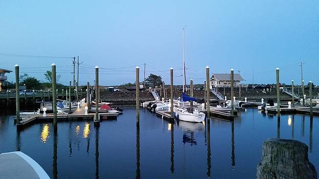 Yachts in dock by Scott Decker