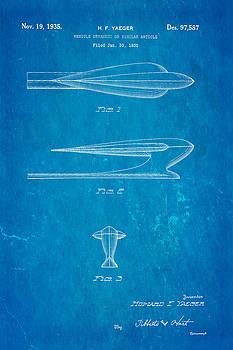 Ian Monk - Yaeger Hood Ornament Patent Art 1935 Blueprint