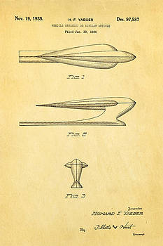Ian Monk - Yaeger Hood Ornament Patent Art 1935