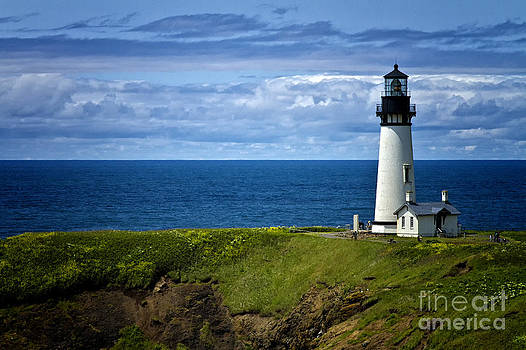 Yaquina Head Lighthouse Oregon by Carrie Cranwill