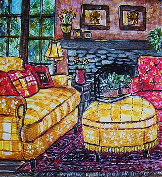 Yello Sofa by Linda Vaughon