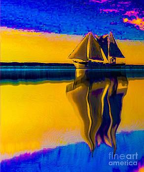 Algirdas Lukas - Yellow and blue