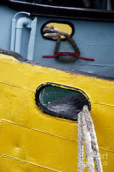 Yellow And Blue Boat by Agnieszka Kubica