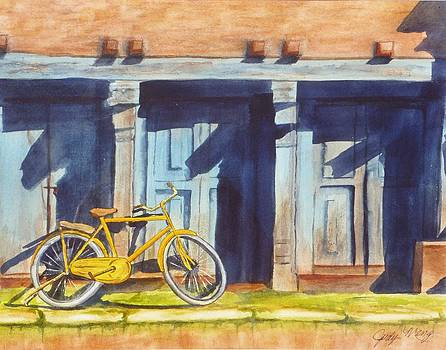 Yellow Bicycle by Judy Meng