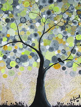 Yellow bubble tree by Wendy Smith