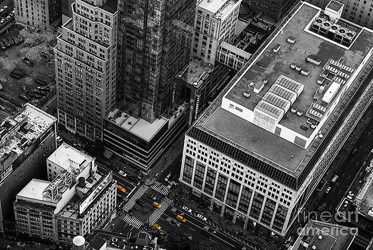 Yellow Cabs - Bird's Eye View by Hannes Cmarits
