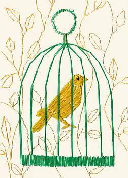 Yellow Canary Bird by Yumi Kudo