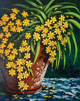 Yellow Cascade by Katherine Young-Beck