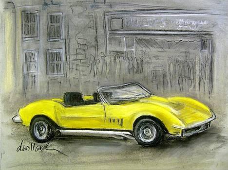 Yellow Corvette by Deborah Willard
