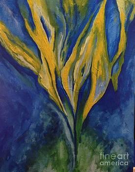 Yellow Crystal Star by Bebe Brookman