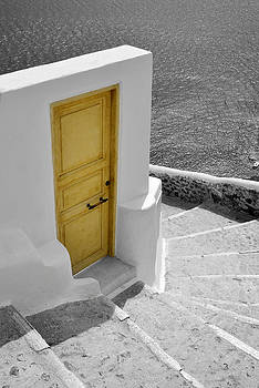 Yellow Door of Oia by Jack Daulton