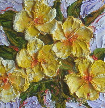 Yellow Flower Cluster by Paris Wyatt Llanso
