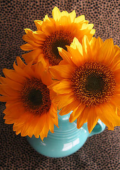 Yellow Flowers in Fiesta Ware by Patricia Januszkiewicz