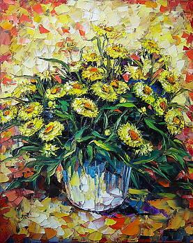 Yellow Flowers by Keren Gorzhaltsan