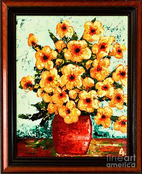 Yellow Flowers by Maria Iurescia