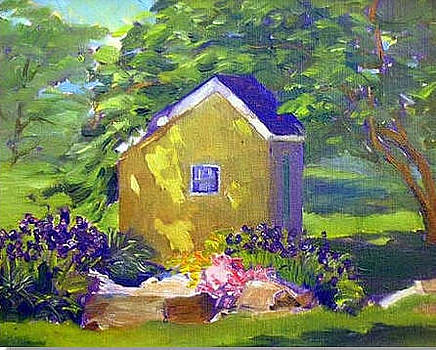 Yellow Garden Shed by Ken Shuey