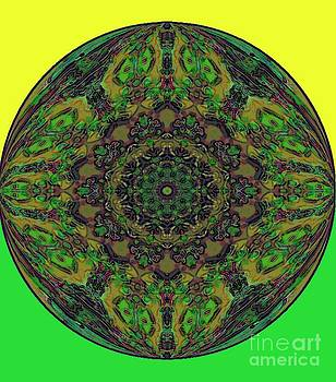 Yellow Green Orb by Annette Allman