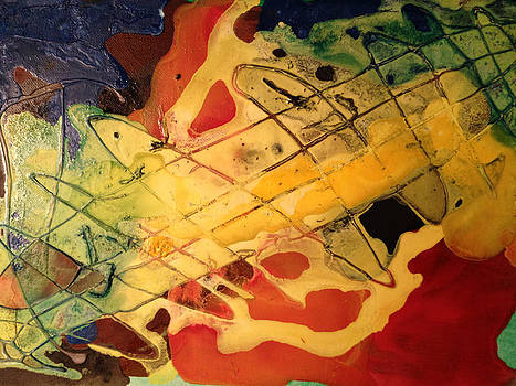 Yellow Guitar Plays Red Music  by Momilani Ramstrum