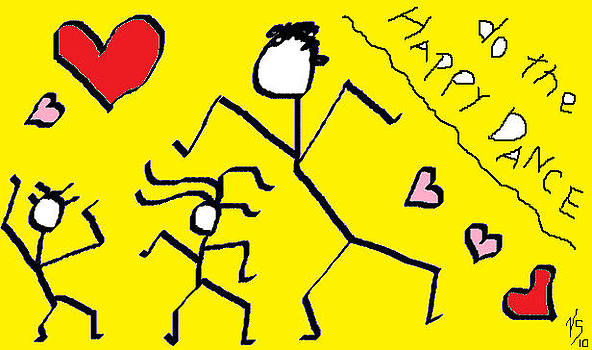 Yellow happy Dance by Vivian Sutherland
