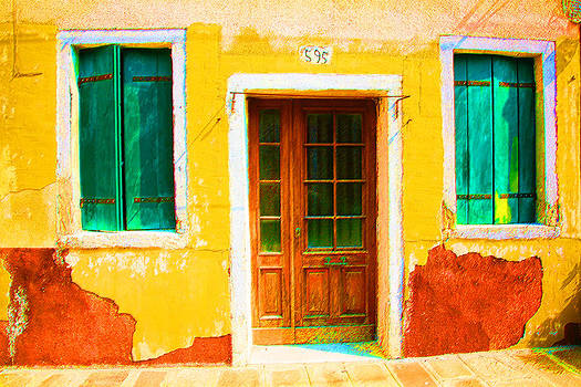 Yellow House Decayed by Donna Corless