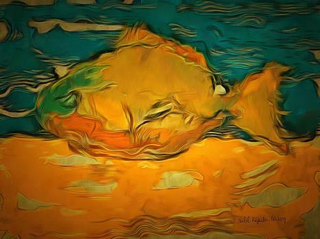 Yellow In Blue by Nabil REJAIBI