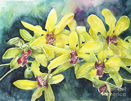 Yellow Orchids by Janis Lee Colon