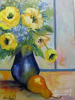 Yellow Poppies and A Pear by Barbara Haviland