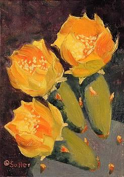 Ruth Soller - Yellow Prickly Pear Cactus