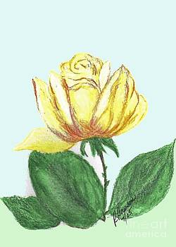 Yellow Rose 3 by Ruthann  Hanson