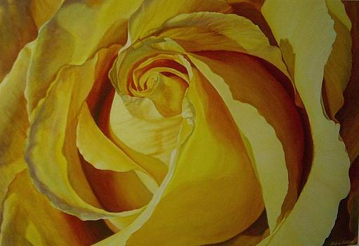 Yellow Rose II by Cherie Sikking