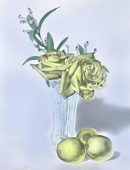 Grace Dillon - Yellow Rose Painting