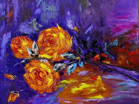 Yellow Roses by Galina Khlupina