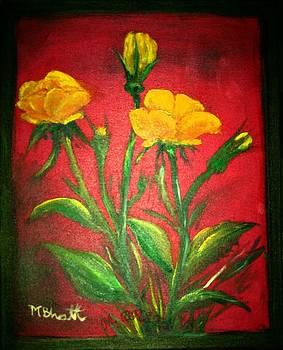 Yellow Roses by M Bhatt