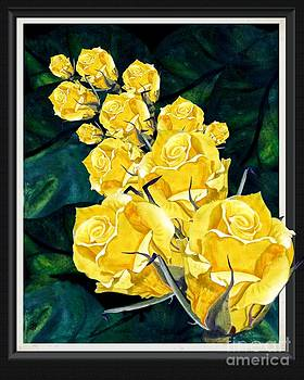 Yellow Roses Thanks a Bunch by Sylvie Heasman