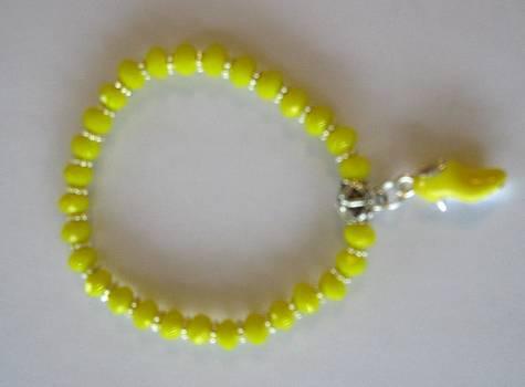 Yellow Shoe Charm Bracelet by Fatima Pardhan