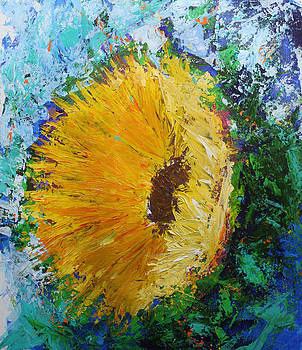 Yellow Sunflower by Kristye Addison Dudley