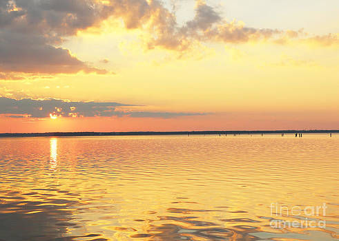 Yellow Sunset over Water by Light Rapture