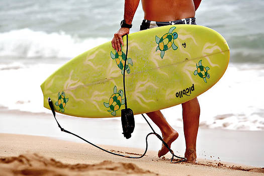 Art Block Collections - Yellow Surfboard