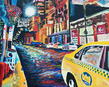 Yellow Taxi by Frankie Picasso