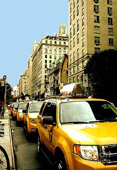 Yellow Taxis by Claudette Bujold-Poirier