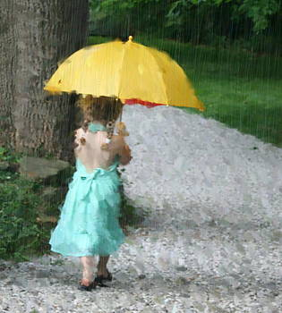 Yellow Umbrella by Diane Merkle