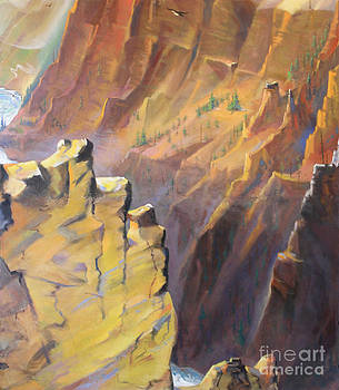 Art By Tolpo Collection - Yellowstone Canyon - Tolpo Point Mural panel 7