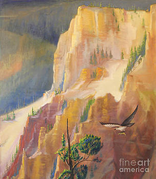 Art By Tolpo Collection - Yellowstone Canyon - Tolpo Point Mural panel 4