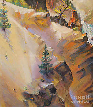 Art By Tolpo Collection - Yellowstone Canyon Mural - Tolpo Point Mural panel 6