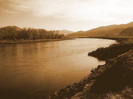 Yellowstone in sepia by Johanna Elik