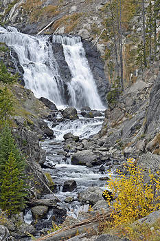 Yellowstone's Mystic Falls in October by Bruce Gourley