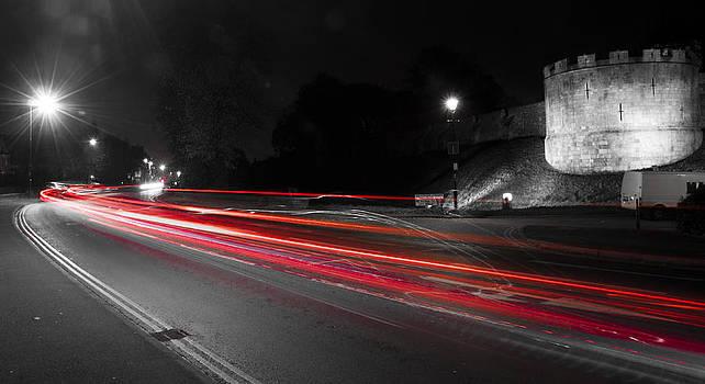York City Walls Light Trails by Glenn Hewitt