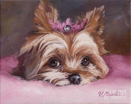 Yorkshire Terrier Princess in Pink by Viktoria K Majestic